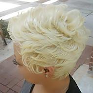 стильный натуральный естественная волна слоистых короткий монолитным парики человеческих волос 2017 года