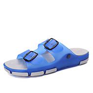 Homme Chaussures PVC Printemps Eté Automne Confort Chaussons & Tongs Marche Boucle Pour Décontracté Bleu de minuit Marron Bleu royal
