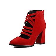 Homme-Habillé Décontracté Soirée & Evénement-Noir Bleu Rouge-Gros Talon-Autre-Chaussures à Talons-Laine synthétique