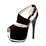 Light Up Shoes-Stiletto-Női-Magassarkúak-Esküvői Irodai Alkalmi Party és Estélyi-Gyapjú-Fekete Szürke Rózsaszín Rózsaszín