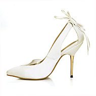 Women's Heels Summer Comfort Silk Wedding Party & Evening Dress Stiletto Heel Bowknot Ivory