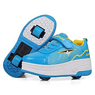 joggesko falle vinter komfort skinn utendørs atletisk lav hæl kroken&sløyfe snøre-up-valse skate sko