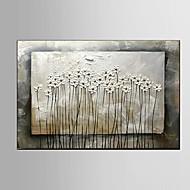 Handgeschilderde Stilleven Bloemenmotief/Botanisch Horizontaal,Pastoraal Modern Eén paneel Canvas Hang-geschilderd olieverfschilderij For