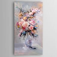 Kézzel festett Virágos / Botanikus Függőleges,Modern Egy elem Vászon Hang festett olajfestmény For lakberendezési
