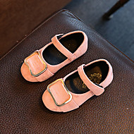 Baby Flats Spring Fall Comfort Leatherette Outdoor Casual Flat Heel Applique Magic Tape Black Brown Pink Walking