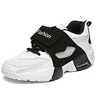 Atletické boty-PU-Pohodlné-Pánské-Červená Černobílá-Outdoor-Plochá podrážka