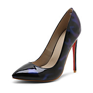 Women's Heels Spring Summer Fall Winter Leatherette Office & Career Dress Party & Evening Stiletto Heel Silver Red Green Blue