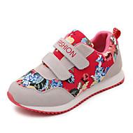 Kényelmes-Alacsony-Női cipő-Tornacipők-Alkalmi-PU-Zöld Piros Sötétvörös