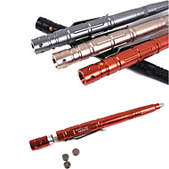 EDC 2017 New 1 Piece Best Selling High Brightness LED Tactical Pen Engraving With Batter  Random color