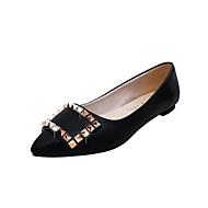 Damen Flache Schuhe Komfort PU Frühling Normal Walking Komfort Niete Flacher Absatz Gold Schwarz Silber 2,5 - 4,5 cm