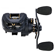 Carbon Baitcasting Reel Gear Ratio 6.3 1 13 plus 1 Ball Bearings Magnetic and Centrifugal Dual Brake Fishing Reel