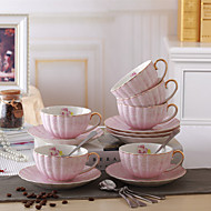1 PC 240ML Gold Bearing Bone China Coffee Cup Ceramic Tea Set