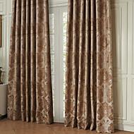 twopages® dois painéis rococó a coroa foi rodeado de poupança de energia cortina cortina