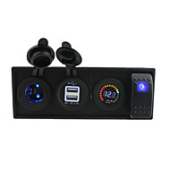 dc 12v led elektromos 3.1a USB port aljzat vezetett feszültségmérő billenőkapcsoló jumper vezetékek és a ház tulajdonosa