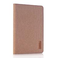 Para Com Suporte Capinha Corpo Inteiro Capinha Cor Única Rígida Couro PU para Apple iPad Mini 4 iPad Mini 3/2/1