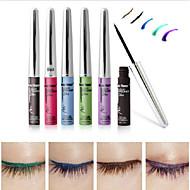 Lápis de Olho Lápis Molhado Longa Duração Natural Secagem Rápida Preta Azul Verde Roxa Café Olhos