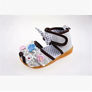 Girl's Sandals Summer Slingback Microfibre Casual Flat Heel Flower Pink / White / Peach Others