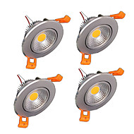 4pcs Z®ZDM 6W 400-500LM Support Dimmable COB LED Ceiling Lights LED Receseed Lights(220V)