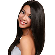 18 inch Straight Human Hair Lace Front Wigs Black #1 B Straight Glueless Lace Front