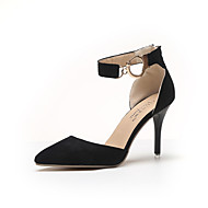Women's Heels Spring Comfort PU Outdoor Stiletto Heel Black Almond Walking