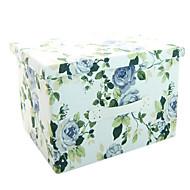 raylinedo® 26L simulert fôr slitesterkt materiale sammenleggbar oppbevaringsboks klær teppe skapet genser arrangør lerret med blomster i