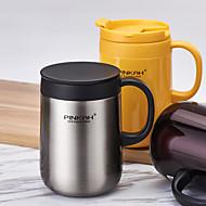 Minimalismus Trinkbecher, 480 ml wärmespeichernde Edelstahl Milch Wasser Kaffeetassen