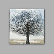 Kézzel festett Absztrakt Landscape Négyzet,Klasszikus Európai stílus Egy elem Vászon Hang festett olajfestmény For lakberendezési