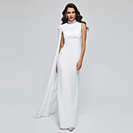 TS Couture Formal Evening Dress - Elegant Celebrity Style Sheath / Column High Neck Floor-length Chiffon with Pleats
