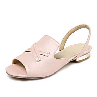 Women's Sandals Spring Summer Fall D'Orsay & Two-Piece Comfort Light Soles Leatherette Outdoor Dress Casual Flat Heel Split JointPink