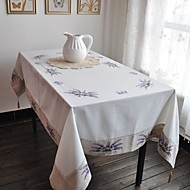 Lavender Embroidered Linen Tablecloths For Sale Many Size Avaliable