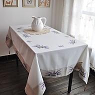 Rectângular Bordado Toalhas de Mesa , Mistura de Algodão MaterialHotel Mesa de Jantar Wedding Party Decoration Banquete de Casamento