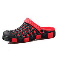 Hole cipő-Lapos-Női cipő-Szandálok-Szabadidős Alkalmi-Bőr-Piros fekete Bronz