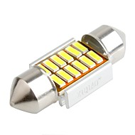 ziqiao 31mm 12 SMD 인테리어 전구를 festoon 4014 CANBUS 차를 주도 (12V / 2 개)
