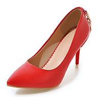 Women's Heels Spring Summer Fall Winter Club Shoes Leatherette Office & Career Party & Evening Dress Stiletto HeelRivet Sparkling Glitter