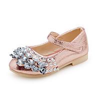 Girls' Sandals Spring Summer PU Wedding Dress Party & Evening Flat Heel Rhinestone Gold Silver Blushing Pink