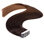 neitsi t2 / 8 # 20 '' 50g ombre δέρμα υφάδι ταινία remy σε ευθεία επεκτάσεις ανθρώπινα μαλλιών 20pcs / pack