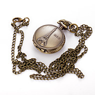 Personality Necklace Restoring Ancient Ways Pocket Watch Tower In Paris France Solid Tower Big Pocket Watch