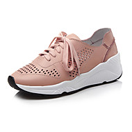 Women's Sneakers Spring Summer Fall Winter Other Cowhide Office & Career Dress Casual Flat Heel Lace-up Green Pink White