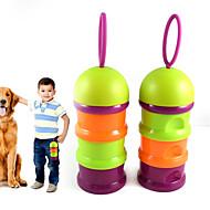 Katze Hund Futter-Vorrichtungen Haustiere Schüsseln & Füttern Tragbar Klappbar Zufällige Farben Kunststoff