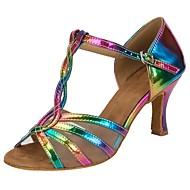 Chaussures de danse(Arc-en-ciel) -Personnalisables-Talon Personnalisé-Similicuir-Salsa