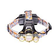 פנסי ראש LED 6000 Lumens 3 מצב Cree XM-L T6 18650 מיקוד מתכוונן גודל קומפקטימחנאות/צעידות/טיולי מערות שימוש יומיומי רכיבה על אופניים ציד