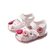 Синий Розовый Белый-Для девочек-Для прогулок Повседневный-Полиуретан-На плоской подошве-Удобная обувь-Сандалии