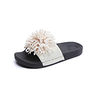 Women's Slippers & Flip-Flops Spring Summer Fall Winter Other Sheepskin Casual Flat Heel Others Black Blue Red Gray Light Purple Walking