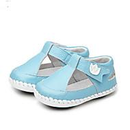 女の子 赤ちゃん フラット 赤ちゃん用靴 レザーレット 夏 カジュアル ウォーキング 赤ちゃん用靴 面ファスナー ローヒール ホワイト グレー ブルー フラット