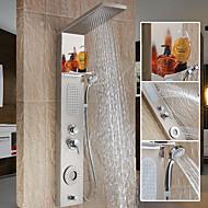 Současné Sprchový systém Vodopád široký spary Včetne sprchové hlavice with  Keramický ventil Single Handle dva otvory for  Nerez ,