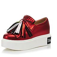 Damen-Loafers & Slip-Ons-Outddor Kleid Lässig-LederAndere-Rot Silber