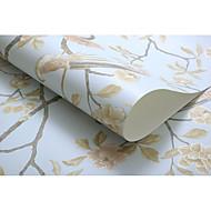 Blumen Bäume/Blätter Tapete Für Privatanwender Landhaus Stil Wandverkleidung , Vliesstoff aus Papier Stoff Klebstoff erforderlich Tapete,