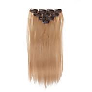 10 clipes 14inch 10pcs clipe em extensões do cabelo 32g ombre humano destacou cabelos lisos