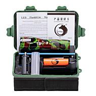 Iluminação Lanternas LED Kits de Lanternas LED 2000 Lumens 5 Modo Cree XM-L T6 18650.0 AAA Foco AjustávelCampismo / Escursão /