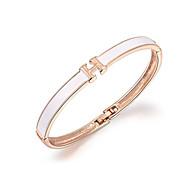 18k zlato krystal h písmeno náramek náramek šperky pro dámy